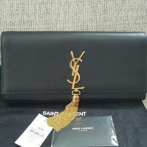 Saint laurent tassel medium Kate clutch bag